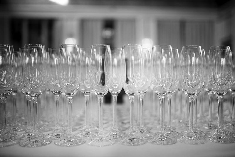 Billede af champagneglas til velkomstdrink på Josty